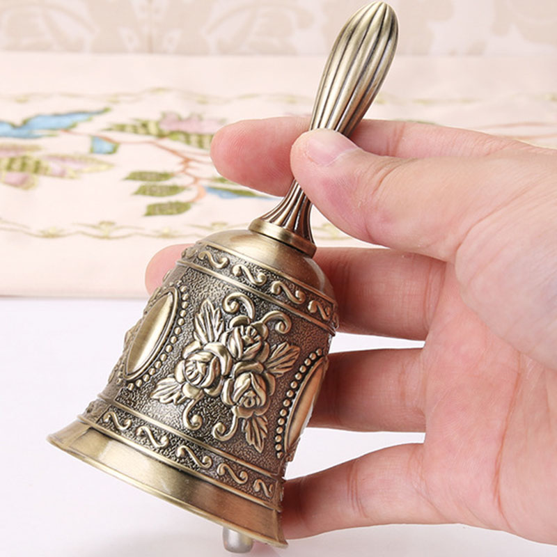 Hand Call Bell Gold Silver Multi-Purpose Bells For Craft Wedding Decoration Alarm School Church Classroom Bar Hotel Vintage Bell