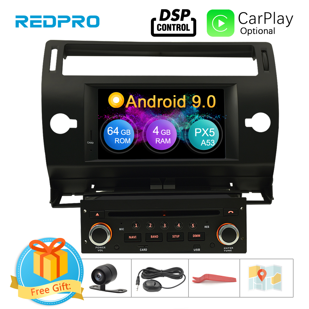 Android 9.0 Touch Screen Car GPS DVD Stereo For Citroen C4 C Triomphe C Quatre 2004 2009 Video Radio WIFI FM Multimedia Player-in Car Multimedia Player from Automobiles & Motorcycles