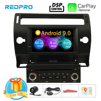 Android 9.0 Touch Screen Car GPS DVD Stereo For Citroen C4 C Triomphe C Quatre 2004 2009 Video Radio WIFI FM Multimedia Player