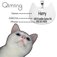 Personalized Custom Dog Tag Stainless Steel Jewelry Engraved Bone Shape Anti-lost Pet Cat Collar With Id Tags