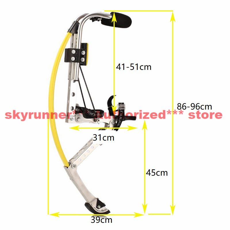 1111[skyrunner jump stilts] Adult Kangaroo Shoes Men Jump Stilts Fitness Exercise Bouncing Shoes ALL YELLOW Color