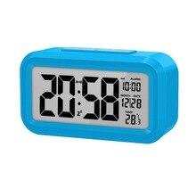 Stucent Alarm Clock Digital Clock Led Clock Table Clock Bedside Clock Calendar Display Color Random