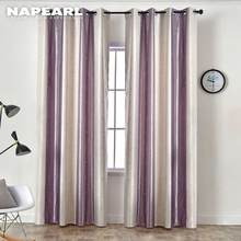 NAPEARL 1 Piece Stripe Colorful Design Moon Star Cartoon Curtains for Living Room Modern Draperies Children Home Decor Elegant(China)