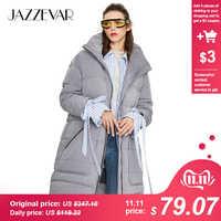 JAZZEVAR 2019 di Inverno nuove donne di arrivo giù colore grigio giacca della tuta sportiva allentata abbigliamento di alta qualità del cappotto di inverno delle donne Y9060