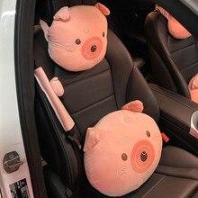 תוספות אופנה בועת חזיר ראש קריקטורה כרית כרית יצירתי מכונית תמיכה המותני כרית צוואר משענת ראש כרית