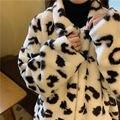 Бархатные леопардовые толстовки LISM Plus с принтом женская зимняя теплая Толстая Женская одежда с длинным рукавом Повседневные Свободные тол...