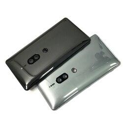 Terug Batterij Deur Achter Behuizing Cover Case Met Side Power Key + Volume Knop Voor Sony Xperia XZ2 Premium H8166 dual Sim 4G