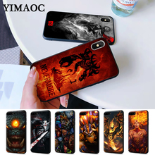 цены Shadow Fiend Dota 2 Silicone Case for iPhone 5 5S 6 6S Plus 7 8 11 Pro X XS Max XR