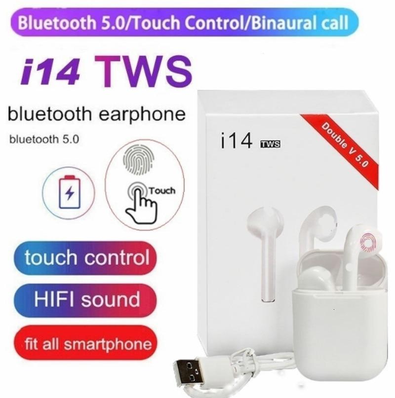 Original I14 TWS Wireless Bluetooth Earbuds Headset Stealth Smartphone PK I11 I12 I7s I20 I60 I30 Wireless Headphones Earphone