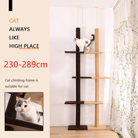 289CM Cat Climbing Toys Tower Structures Cat Climber Tree Post Shelves Multilayer Platform Super Long Large Cat Furniture Tree