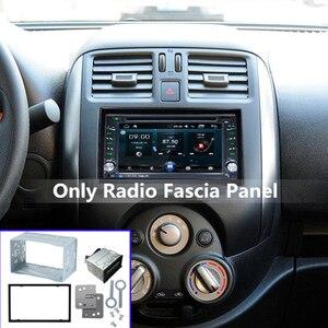 Комплект фитингов для радиоприемника, Монтажная пластина, 2 DIN, чехол для автомобиля, радио, DVD плеера, монтажная рамка, аксессуар Панели      АлиЭкспресс