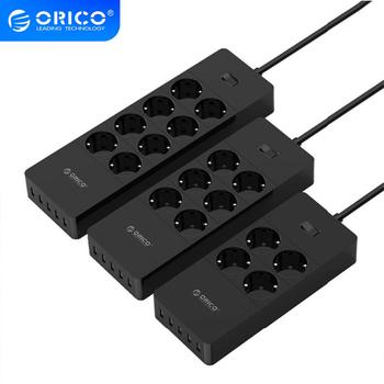 цена на ORICO Electrical Socket EU Plug Extension Socket  Outlet Surge Protector EU Power Strip with 5x2.4A USB Super Charger Ports