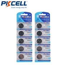 Paquete de baterías PKCELL CR2016 CR 2016, 3V, DL2016, KCR2016, LM2016, BR2016, EE6277, pila botón de litio, 10 Uds.