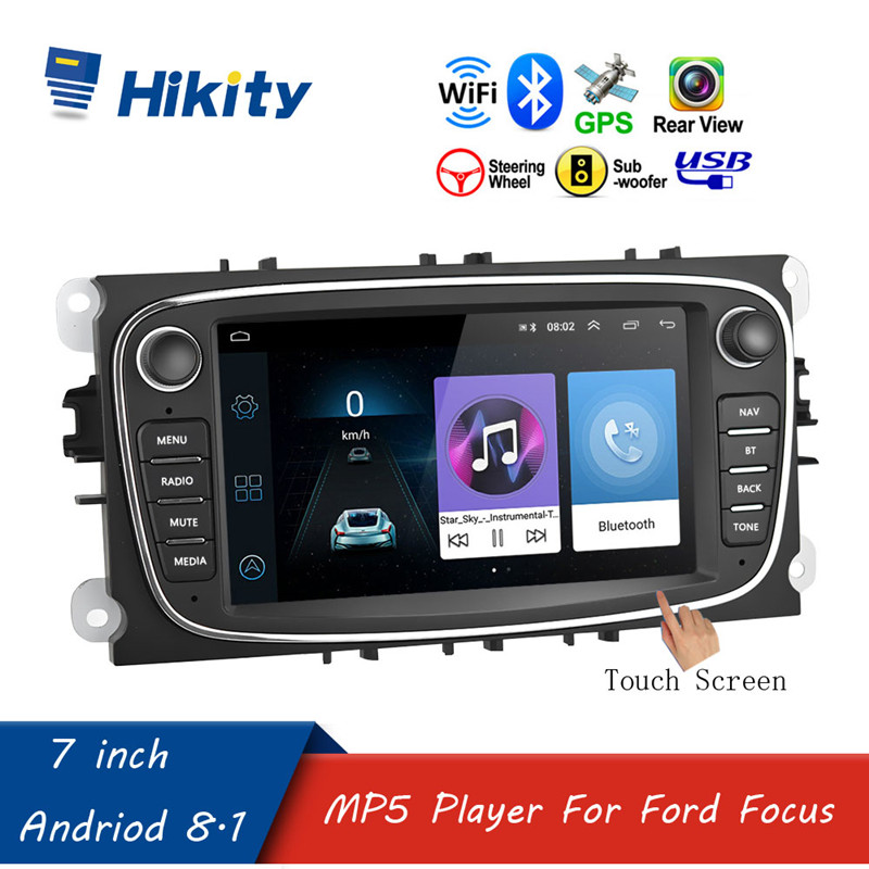"""Hikity 7 """"Android 8.1 autoradio 2 Din lecteur multimédia GPS Navigation Wifi Bluetooth pour Ford/Focus/s-max/Mondeo 9/Galaxy/c-max"""
