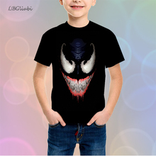 LBG New Hero Venom Child T-shirt 3D Print Teen T-Shirt Fashion Boy Girl Short Sleeve