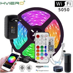 WIFI / Bluetooth RGB RGBW LED Strip Set DC12V LED Strip 5050 5m 300LEDs + WIFI / Bluetooth Controller + Power Adapter Led Strip