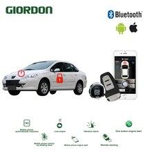 Universal Keyless Entry PKE Sistema de Conforto Do ios Android APP Telefone Impulso Alarme Carro Início Remoto Motor