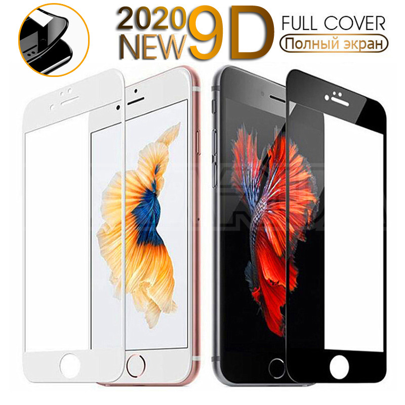 9D Curved Edge Tempered Glass On The For IPhone 7 8 6 6S Plus Screen Protector For IPhone 11 Pro X XS Max XR Protective Glass