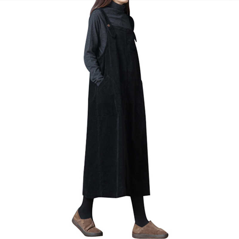 Винтажное вельветовое платье, женское Повседневное платье с карманами и ремнем, платье-комбинация, элегантные женские платья, осенне-зимнее платье, женское платье Vestidos