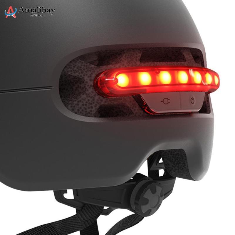 Image 2 - Электрический скутер защитный шлем с Предупреждение светильник для Xiaomi M365 профессиональный самокат электрический скейтборд Ninebot Es1 E2 Mijia M365 скутер Запчасти-in Детали и аксессуары для скутера from Спорт и развлечения