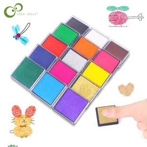 10 Colors Ink Pad Stamp DIY Finger Painting Craft Cardmaking For Kids Montessori Drawing Baby toys Kindergarten Kids Toy GYH
