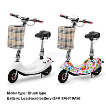 350W Brush Motor Mini Bike Foldable Ebike Adult Electric Bicycle Bike Women Lady Electric Scooter With Seat 24V 8AH/10AH Battery цены