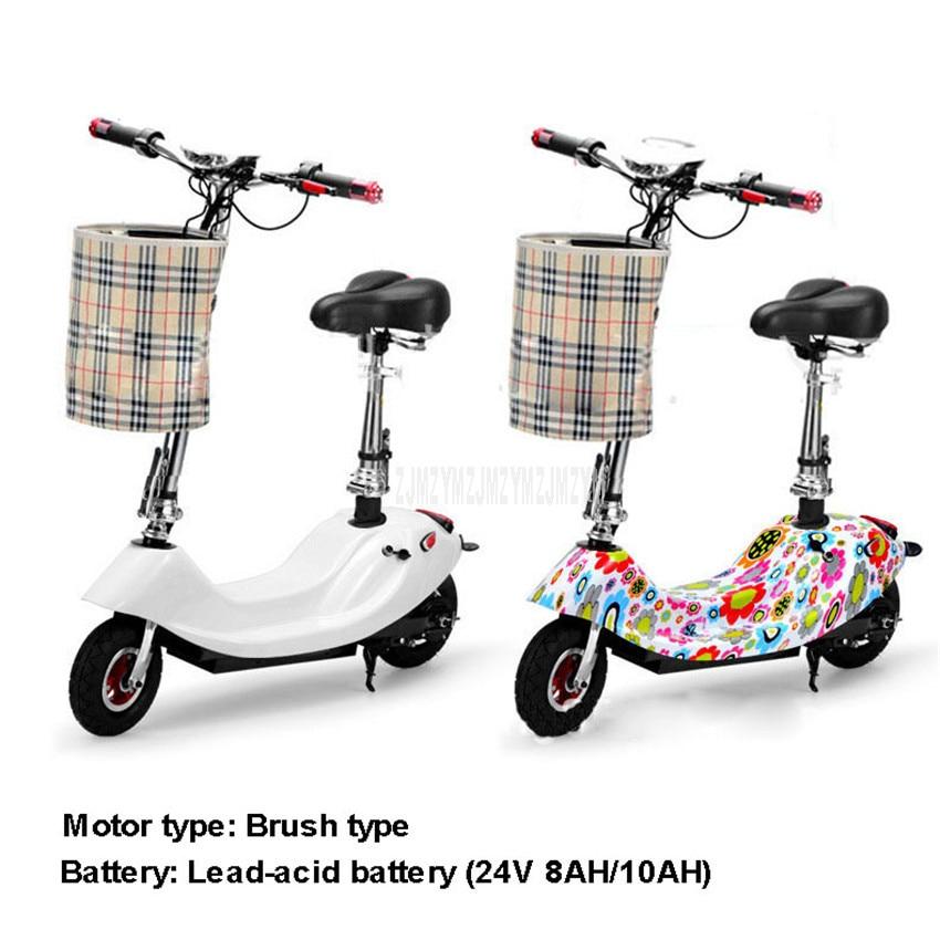 350W Pinsel Motor Mini Bike Faltbare Ebike Erwachsene Elektrische Fahrrad Bike Frauen Dame Elektrische Roller Mit Sitz 24V 8AH/10AH Batterie