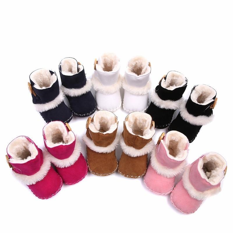 Winter Boots Newborn Boots High Soft Bottom Non-slip Baby Boots Boys Children Winter Shoes Crochet Snow Boots Baby Winter Shoes