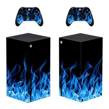Blue Game Skin Sticker Decal Cover for Xbox Series X Console and 2 Controllers Xbox Series X Skin Sticker Vinyl 1