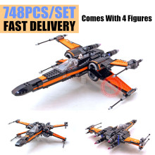 New Star War series The First Order X Wing Fighter fit Starwars 75102 figures technic Model Building Blocks bricks Toy birthday цена