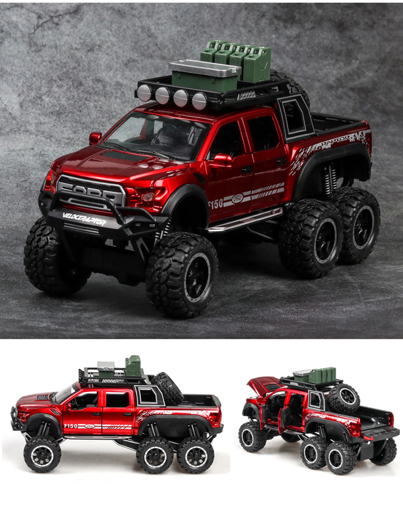 Ford F150 Raptor Pickup Truck Model Car with Sound and Lights 14