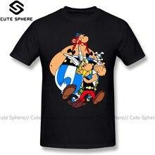 Asterix t camisa asterix e obelix camiseta streetwear manga curta camisa masculina 100 por cento de algodão xxx gráfico incrível tshirt