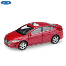WELLY 1:36  Modern Elanrta simulation alloy car model machine Simulation Collection toy pull-back vehicle недорого