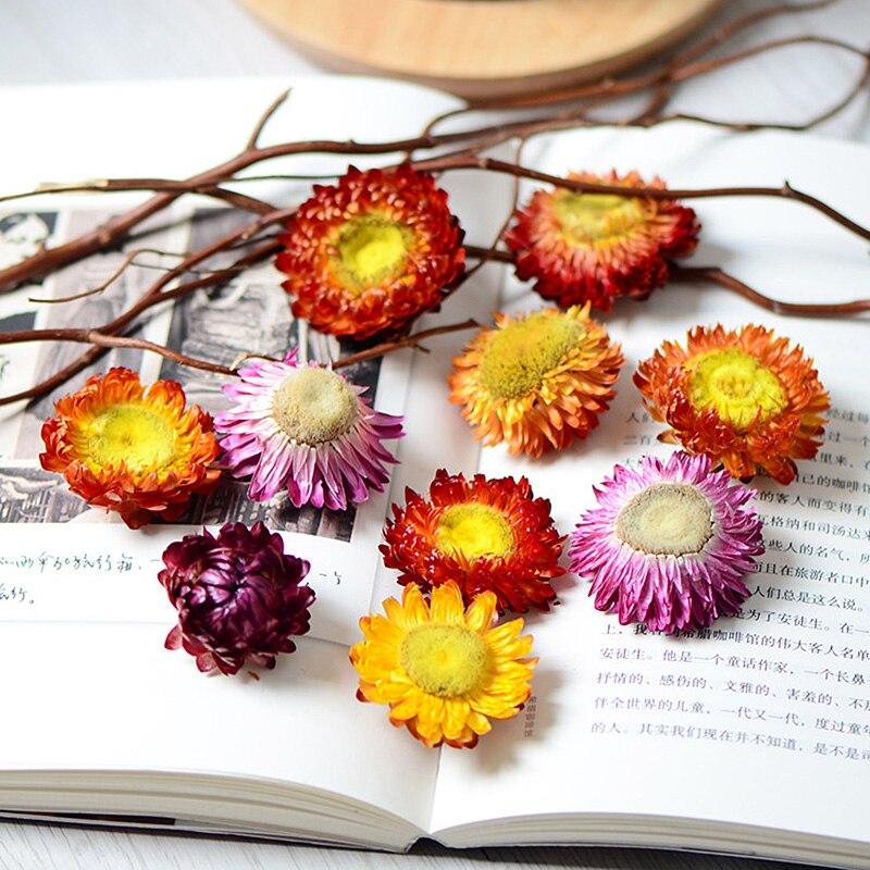 30 шт., 50 шт., декоративные насадки из сухого солома с хризантемой, сушеные ромашки, натуральный Подсолнух, сделай сам, Декор для дома, свадьбы