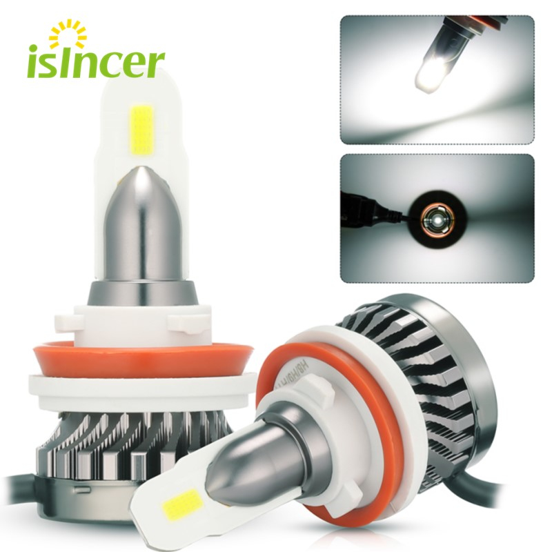 ISincer H8 <font><b>H9</b></font> H11 <font><b>LED</b></font> Headlight Bulbs H1 H4 H7 9006 9005 IP67 100W 8000LM CSP Bulb Car Headlight Kit <font><b>360</b></font> Degree Fog Light image