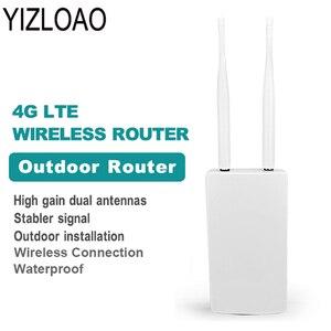 YIZLOAO Водонепроницаемый Открытый 4G CPE маршрутизатор 150 Мбит/с CAT4 роутеры LTE 3G/4G sim-карта WiFi роутер для ip-камеры/внешний WiFi Coverag