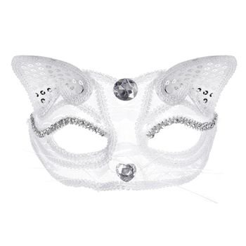 Sexy Cat Half Mask Eco-friendly Halloween Cosplay Props Animal Themed Club Party for Women