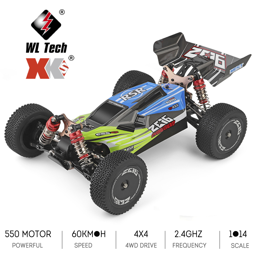 Wltoys XKS 144001 RC Car 60km/h High Speed 1/14 2.4GHz RC Buggy 4WD Racing Off-Road Drift Car RTR Toys Kid 2