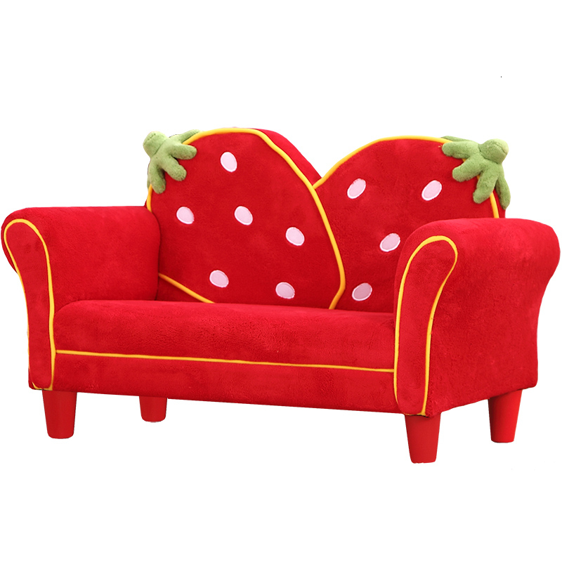 Strawberry Baby Sofa Chair Lovely Kindergarten Baby Small Sofa Bean Bag Red Children Bedroom Child Bed Zitzak 9kg