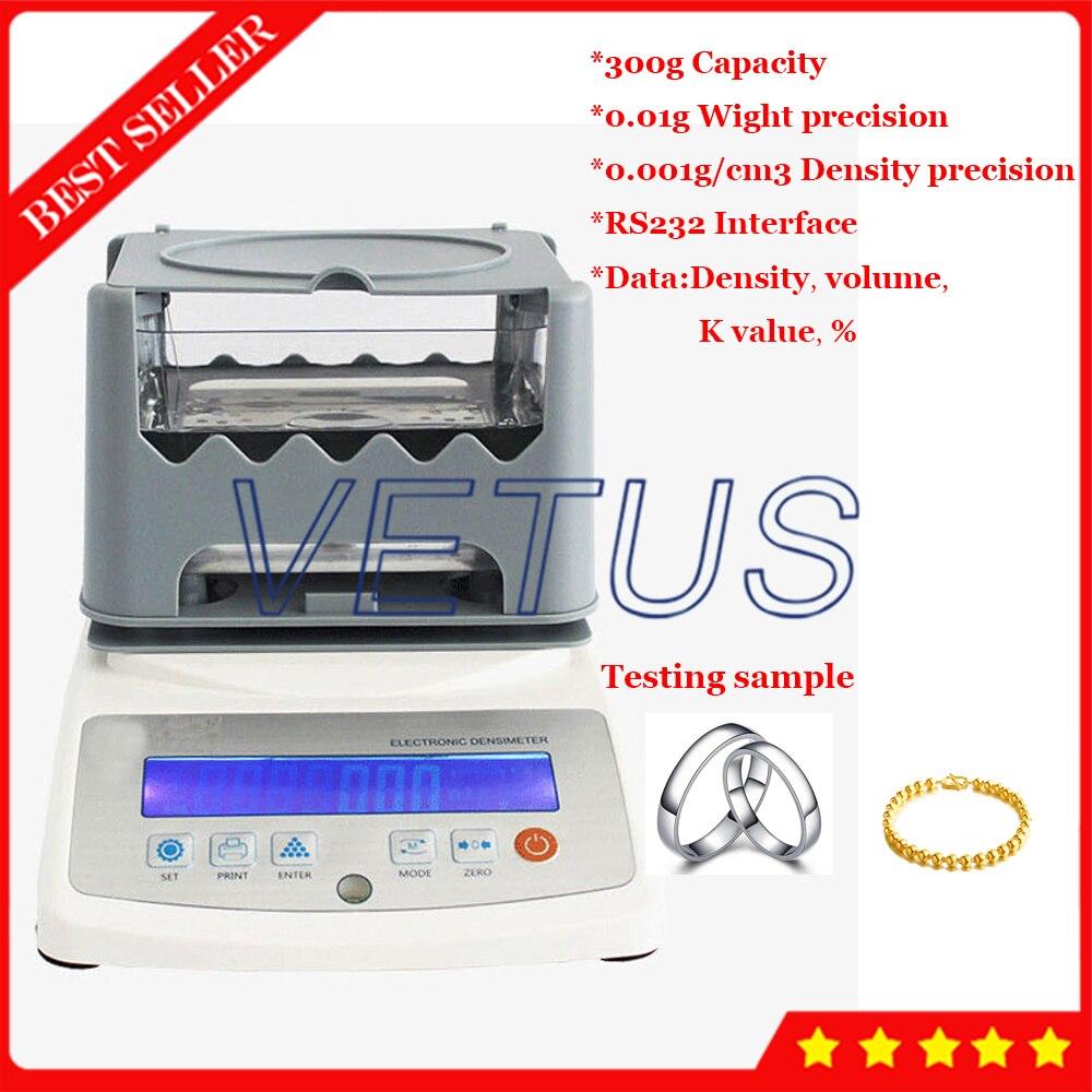 Oro platino Misuratore di Densità del Filtrante Purezza Tester Misuratore di Densità di Metalli Preziosi Per Oro K Argento Platino Test VTS3002GD