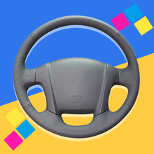 Auto Braid On The Steering Wheel Cover for Kia Sportage 2 2007-2013 2005 2009 Sportage DIY Car Braiding Wheel Covers Car-styling shining wheat black genuine leather steering wheel cover for kia sportage 2 2005 2010 2009 sportage