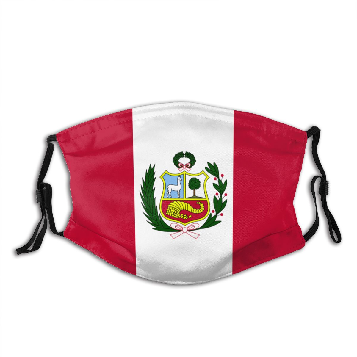 Protective Mask With Filter Peru Flag Anti Dust PM2.5 Reuse Adult Teen Child Girl