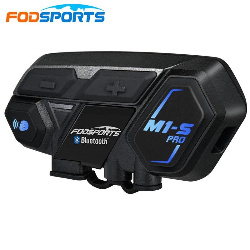 Fodsports motocicleta intercom 8 pilotos M1-S pro capacete fone de ouvido bluetooth moto interfone conectar BT-S2 v6 TCOM-SC