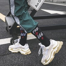 2019 New Couples Street Skateboard Socks College Letters Cute Summer Sports Cotton mens Funny Casual G0823
