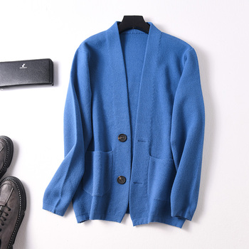Man Sweaters Cashmere and Wool Knitting Jumpers Men Winter Cashmere cardigan Male Clothes Standard  sweater with Button men coat