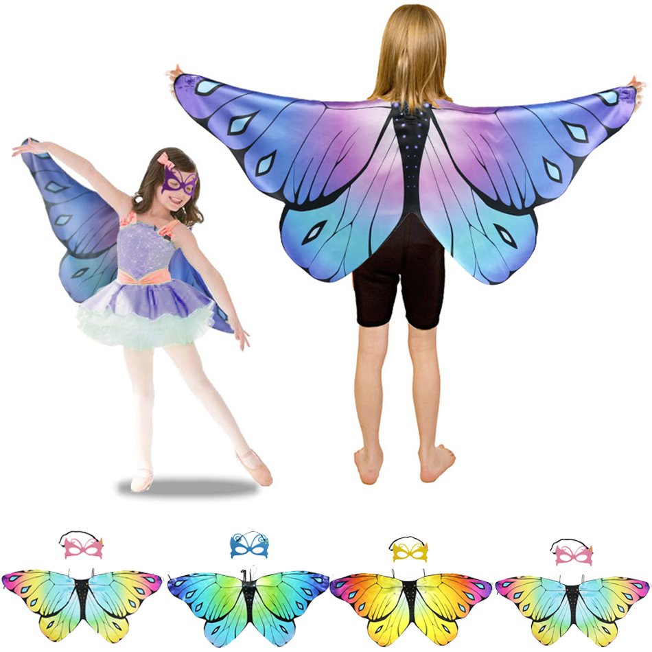 Butterfly Wings Mask Belly Dance Sticks Bag Adult Kid Belly Dancing Costume Wings Bollywood Jewelry Butterfly Wings