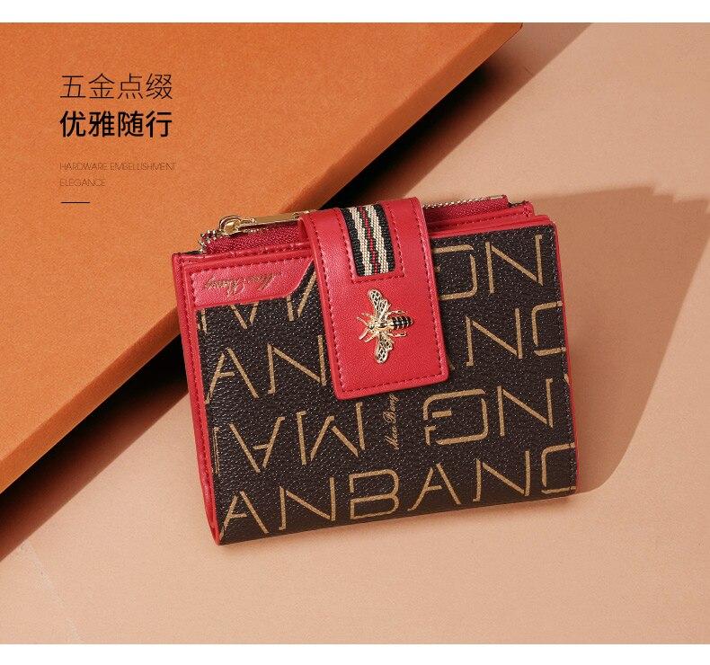 Nova moda feminina carteira de couro carteira