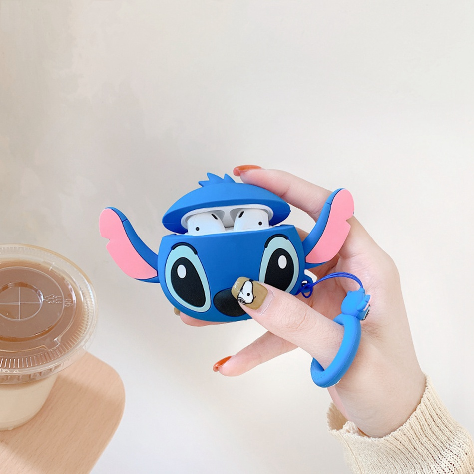 Universal Earphone Case For Apple Airpods Case Cute Cartoon Silicone Headphone Cover For AirPods 2 Air Pods Gift Earpods Case