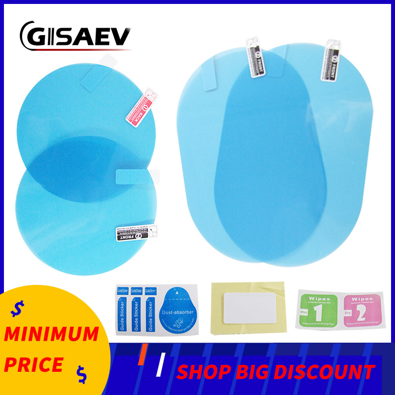 Car Mirror Window Clear Film Anti Fog Membrane Anti-Glare Waterproof Rainproof Car Sticker 2 Pcs/Set