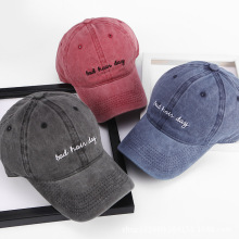 NEW Bad Hair Day embroidery Cap Washed Baseball Cap Women Me